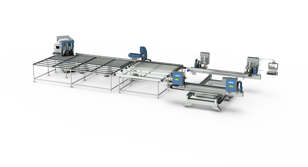 Haffner automatske linije za varenje i ciscenje pvc single line